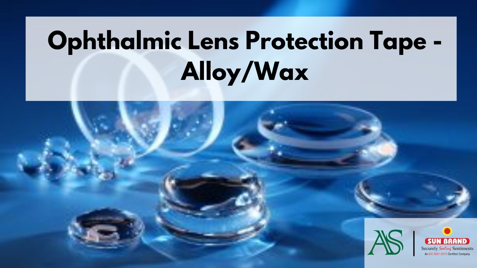 Ophthalmic Lens Protection Tape - Alloy/Wax
